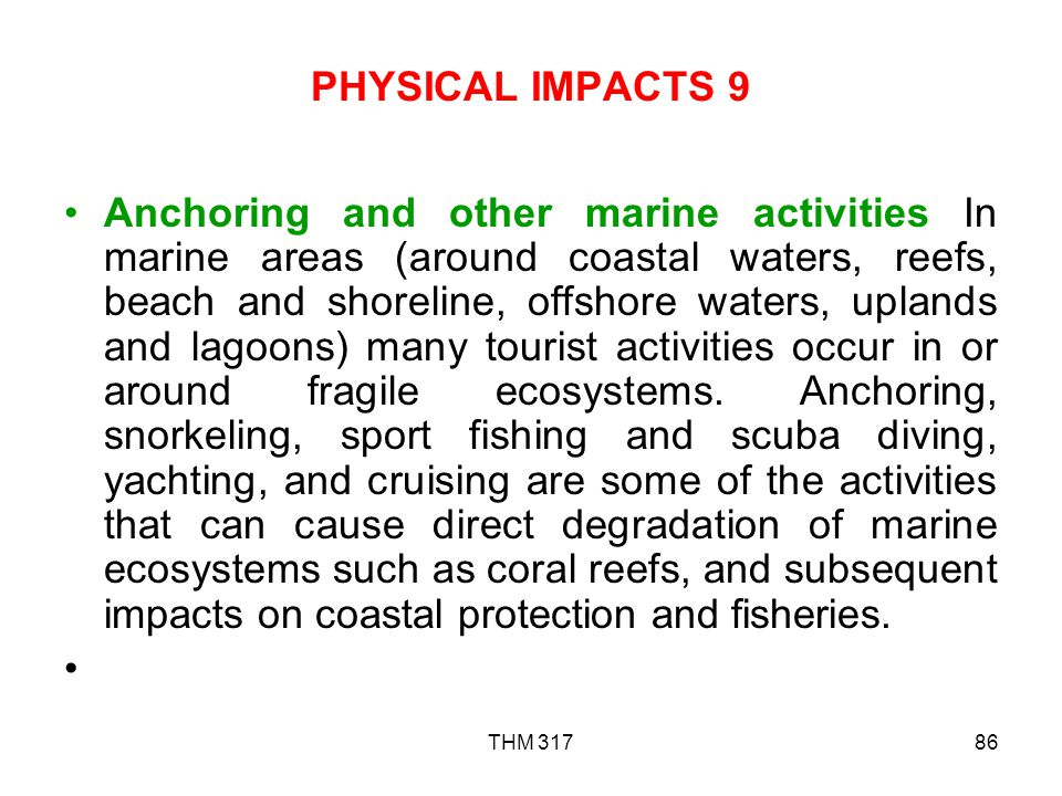 PHYSICAL IMPACTS 9
