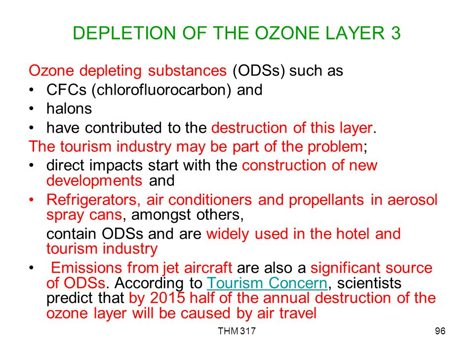 DEPLETION OF THE OZONE LAYER 3