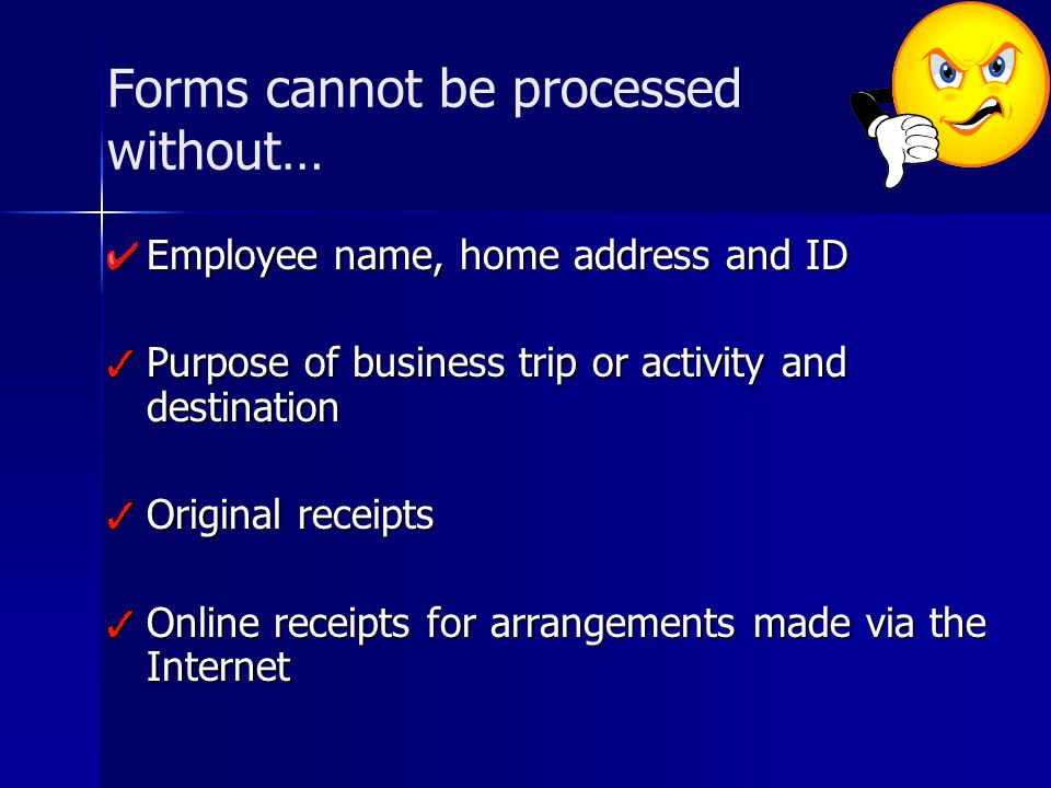 Forms cannot be processed without…