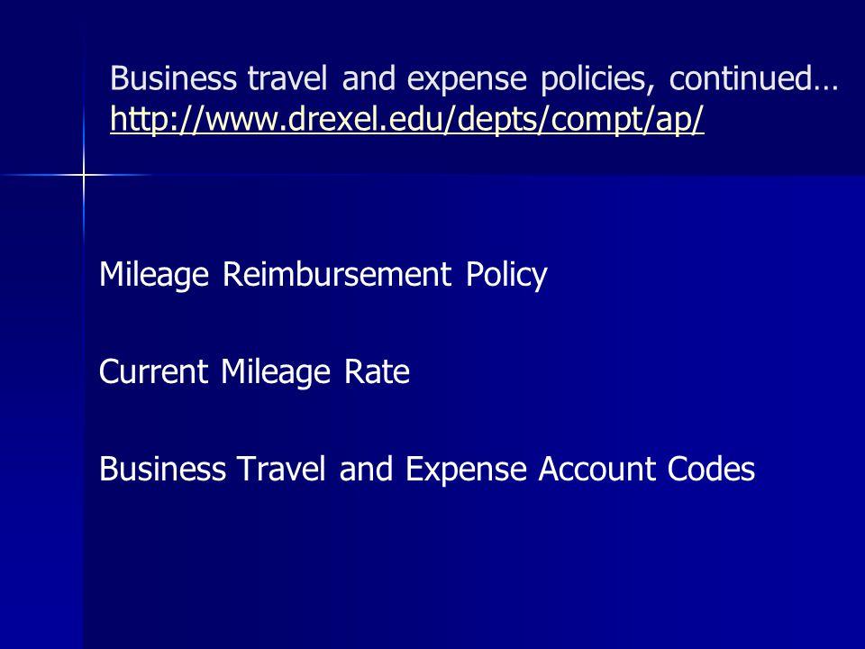 Mileage Reimbursement Policy