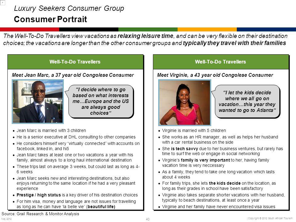 Luxury Seekers Consumer Group Consumer Portrait
