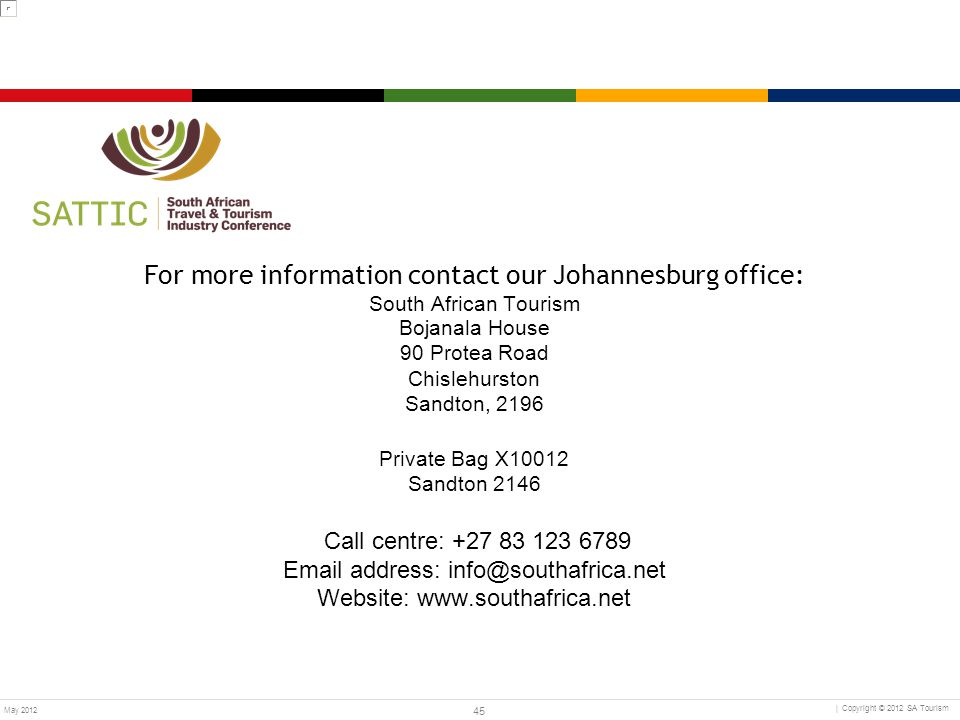 For more information contact our Johannesburg office: