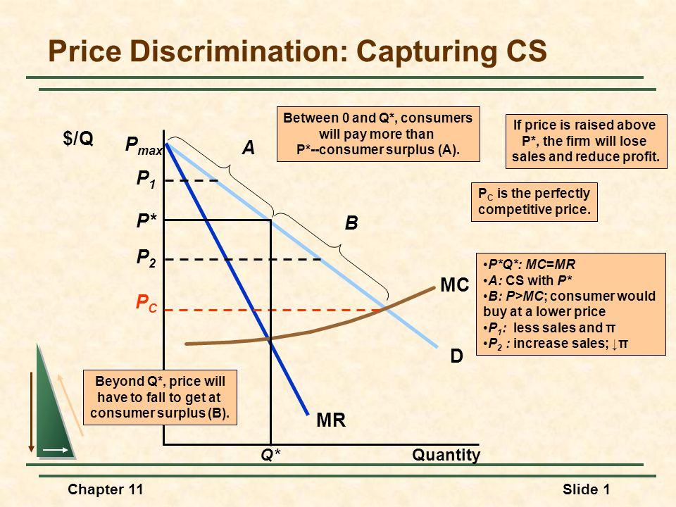 Price Discrimination: Capturing CS