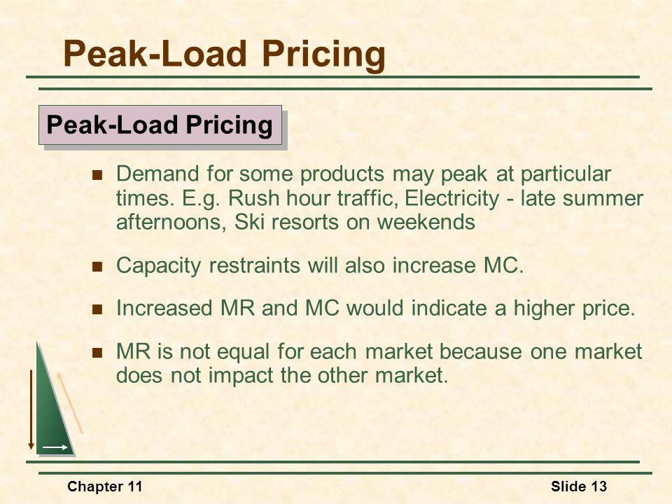 Peak-Load Pricing Peak-Load Pricing