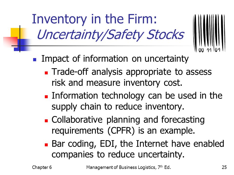 Inventory in the Firm: Uncertainty/Safety Stocks