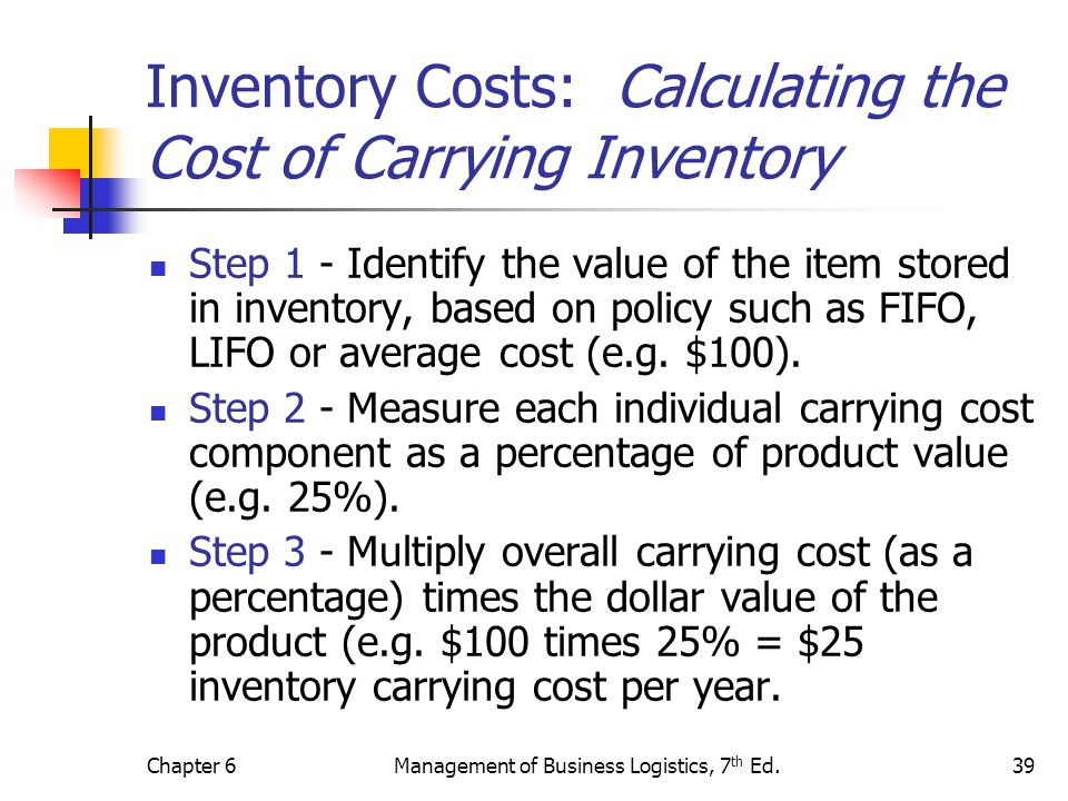 Inventory Costs: Calculating the Cost of Carrying Inventory