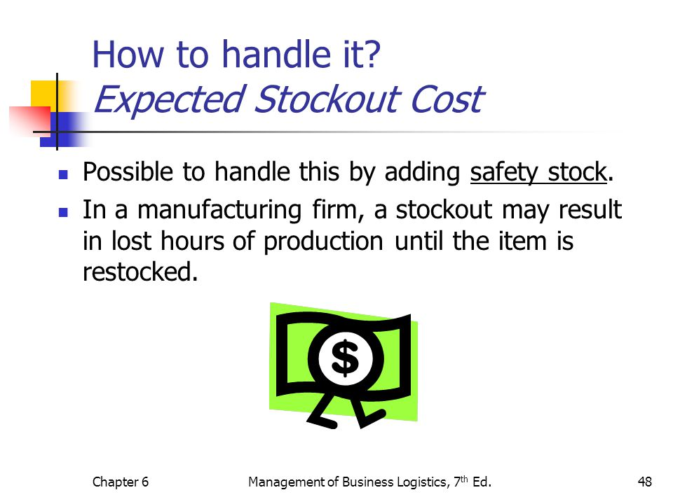How to handle it Expected Stockout Cost
