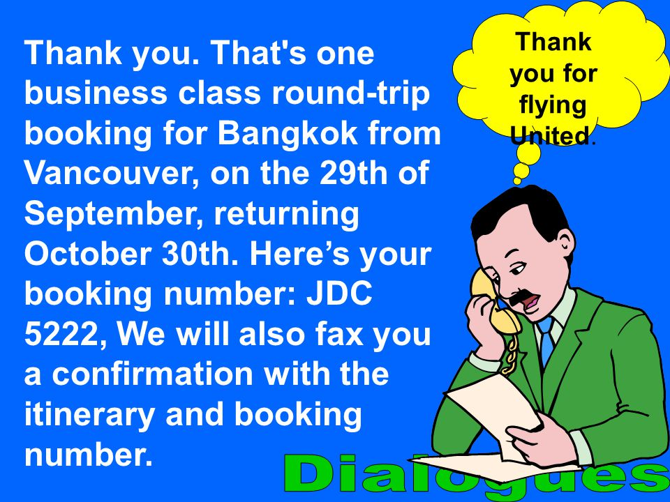 Thank you for flying United.