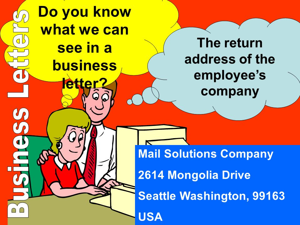 Do you know what we can see in a business letter