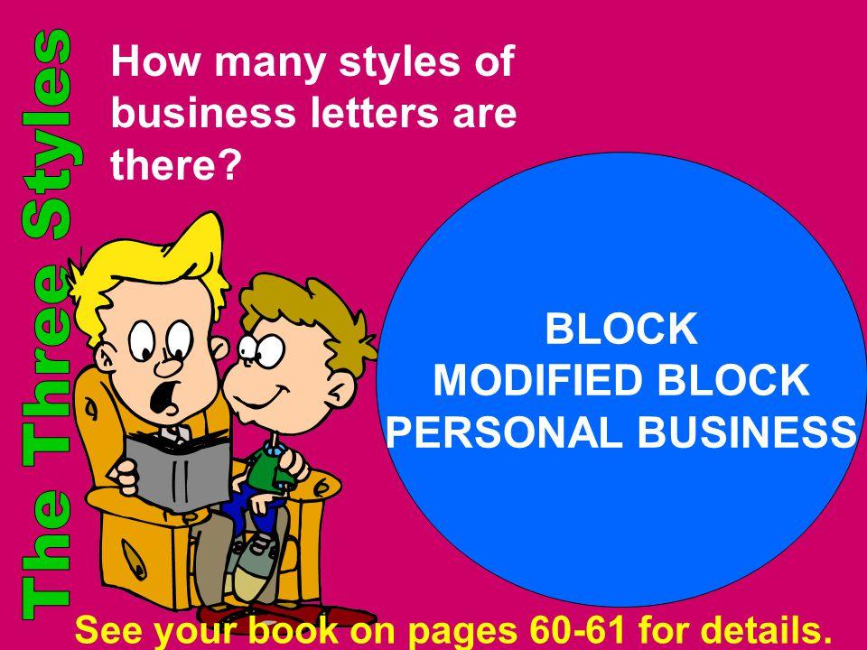 BLOCK MODIFIED BLOCK PERSONAL BUSINESS
