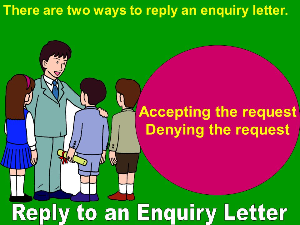 Reply to an Enquiry Letter