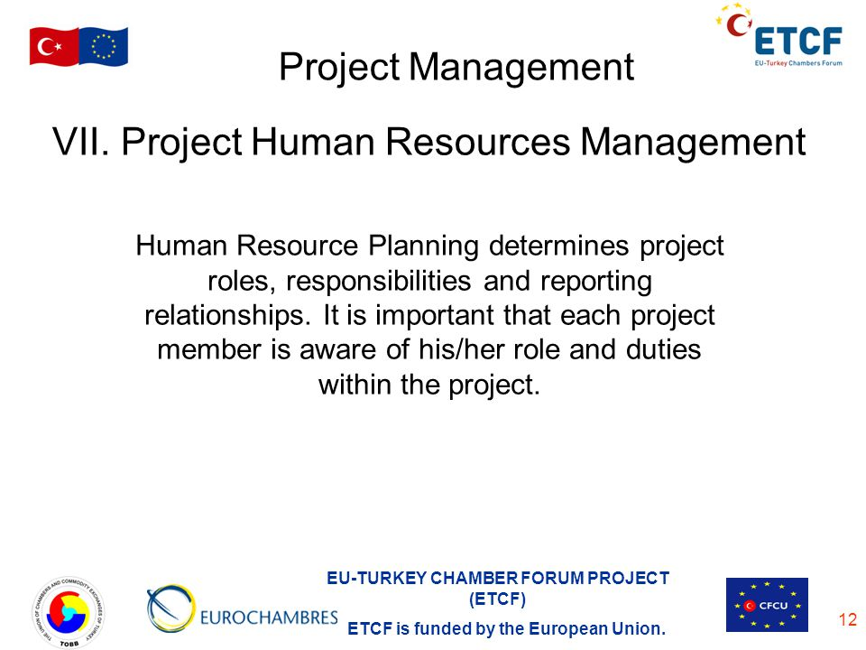 VII. Project Human Resources Management