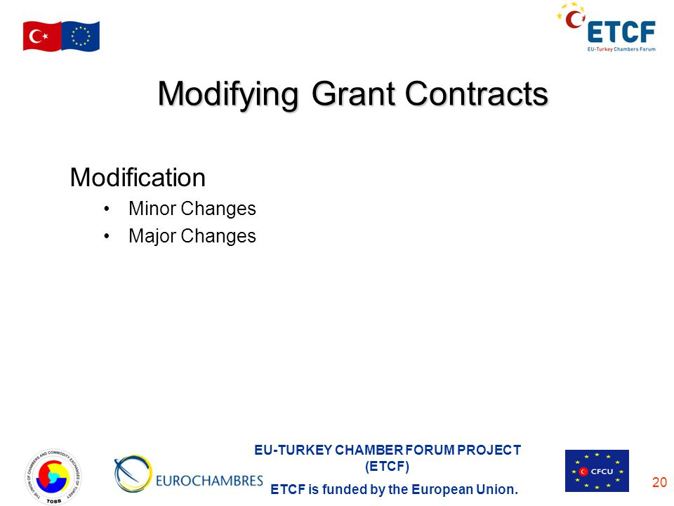 Modifying Grant Contracts