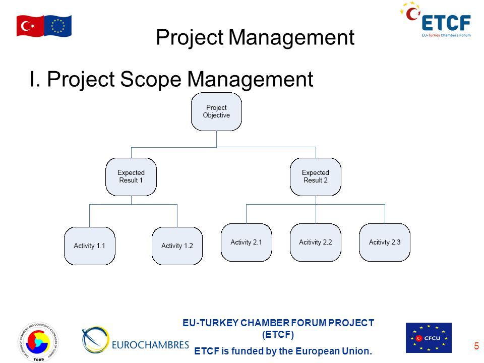 Project Management I. Project Scope Management