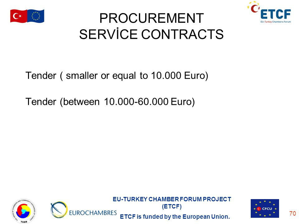 PROCUREMENT SERVİCE CONTRACTS