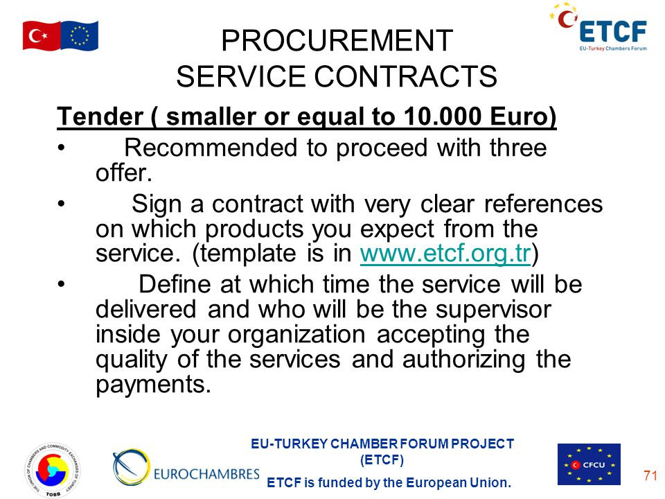 PROCUREMENT SERVICE CONTRACTS
