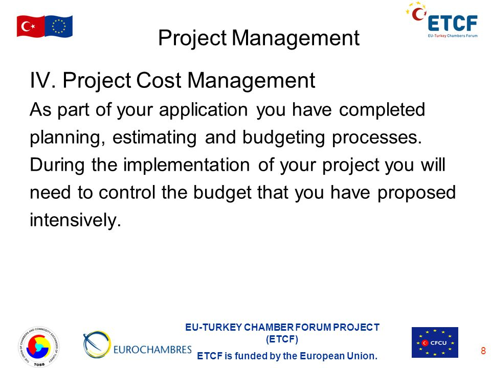 IV. Project Cost Management