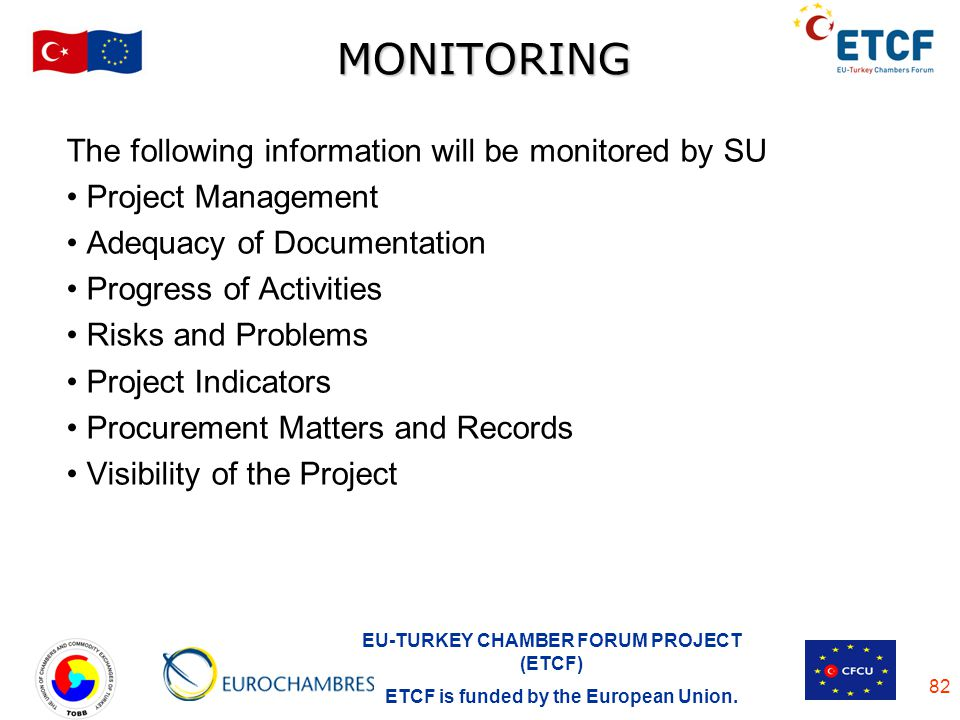 MONITORING The following information will be monitored by SU