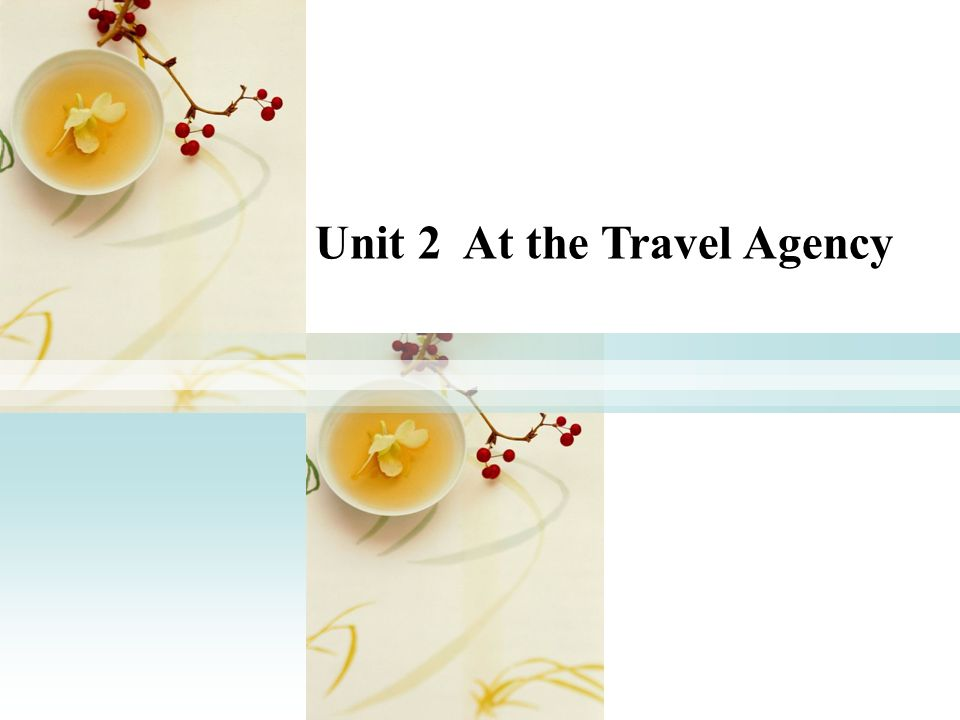 Unit 2 At the Travel Agency