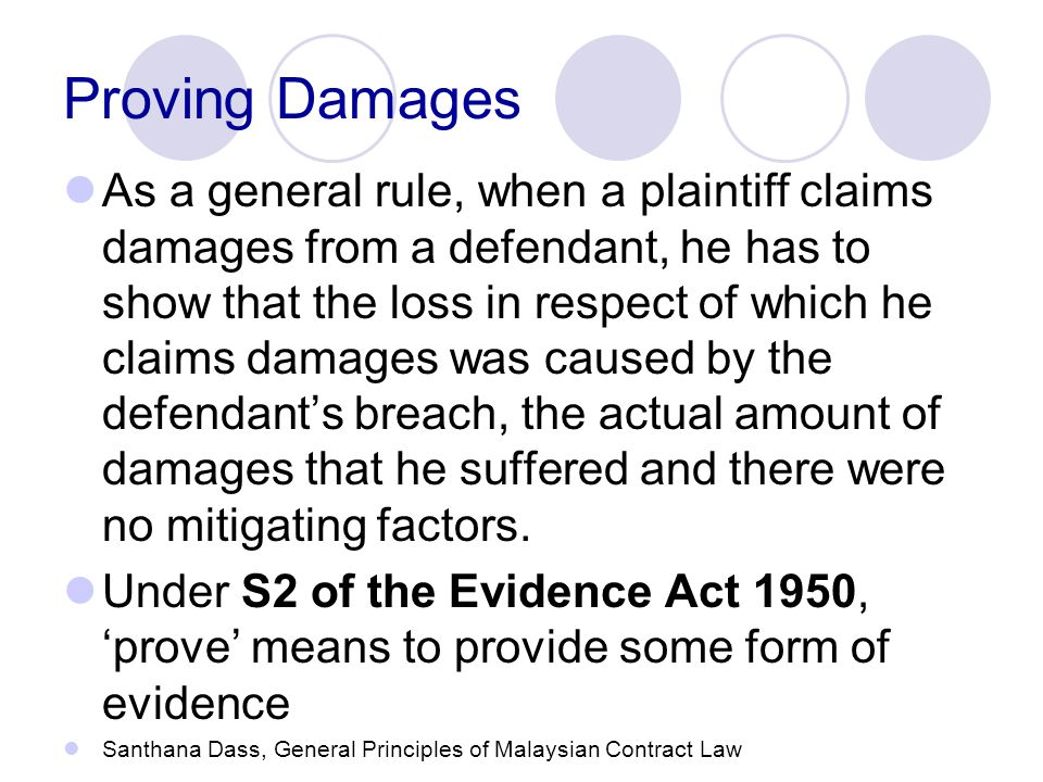 Proving Damages