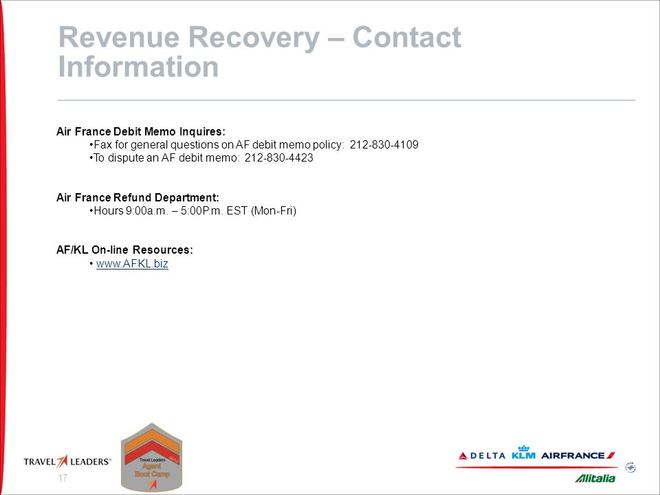 Revenue Recovery - Quiz