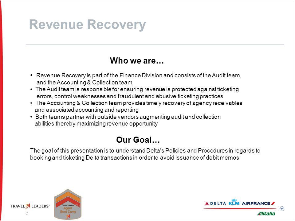 Revenue Recovery - Debit Memo Statistics