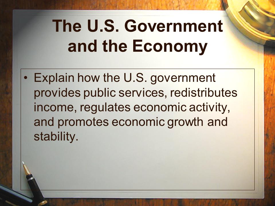 The U.S. Government and the Economy