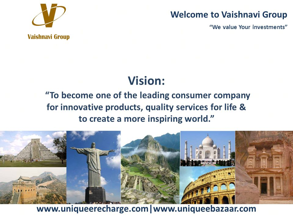 Vision: Website: Welcome to Vaishnavi Group