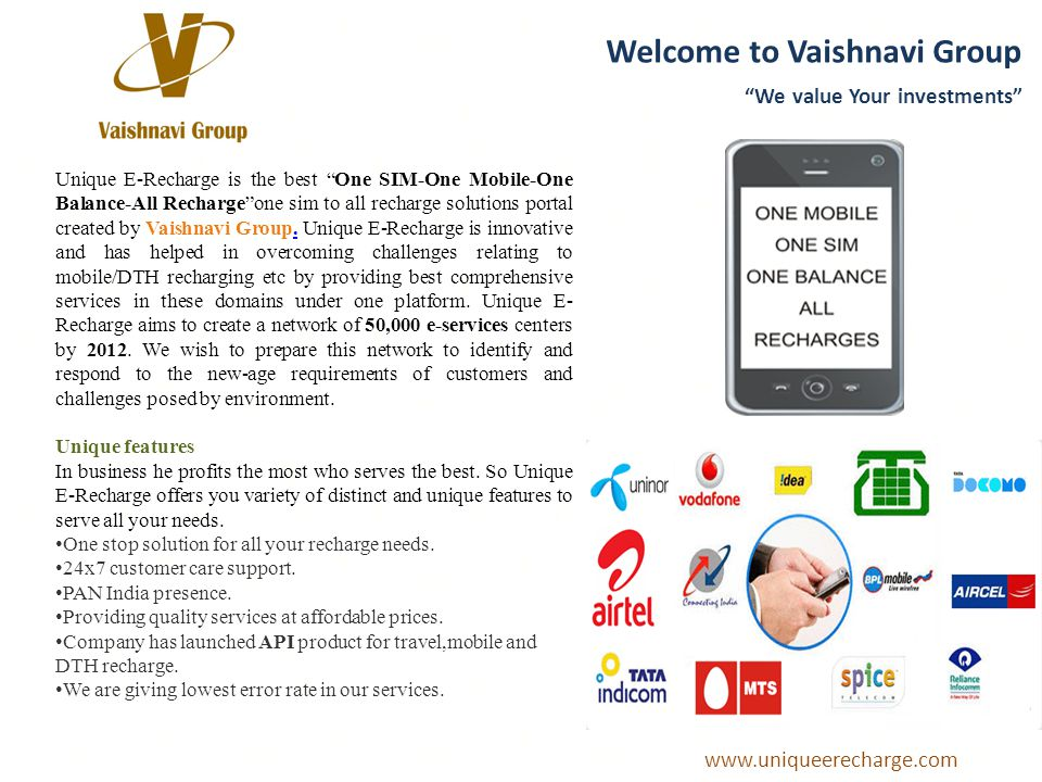 Welcome to Vaishnavi Group We value Your investments