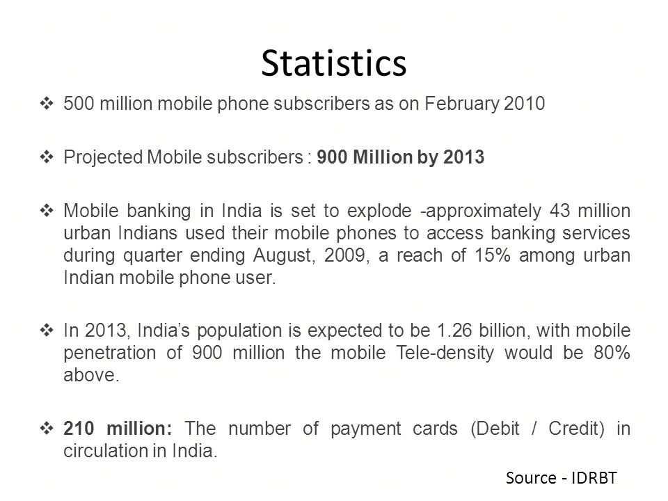 Statistics 500 million mobile phone subscribers as on February 2010