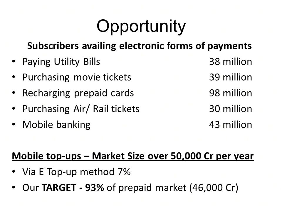 Subscribers availing electronic forms of payments