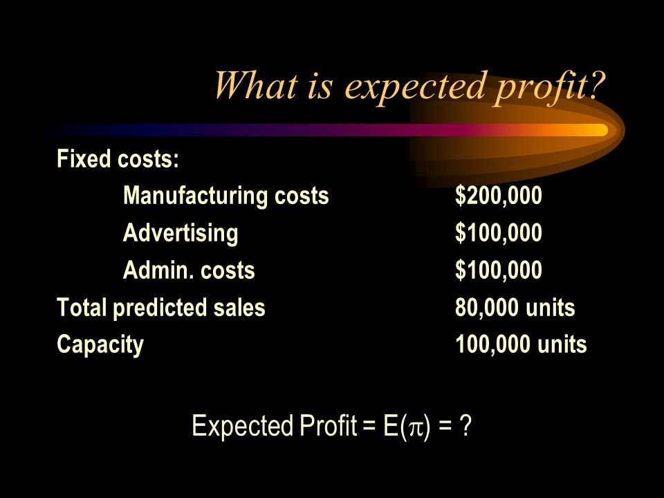 What is expected profit