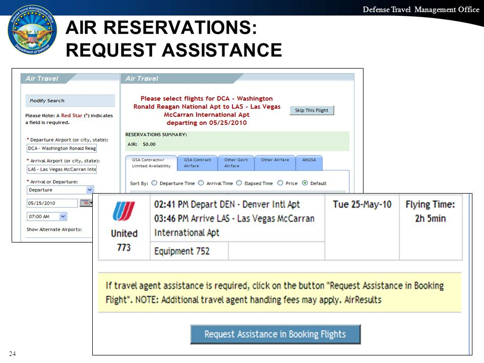 AIR RESERVATIONS: REQUEST ASSISTANCE