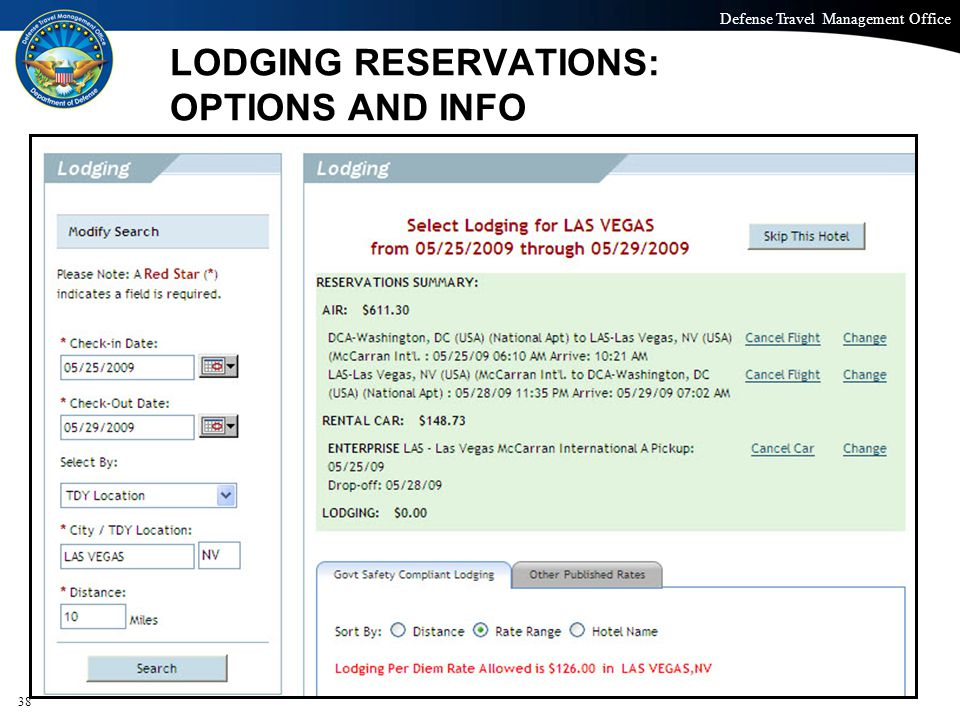 LODGING RESERVATIONS: OPTIONS AND INFO