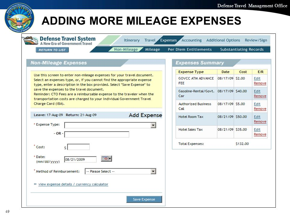 ADDING MORE MILEAGE EXPENSES