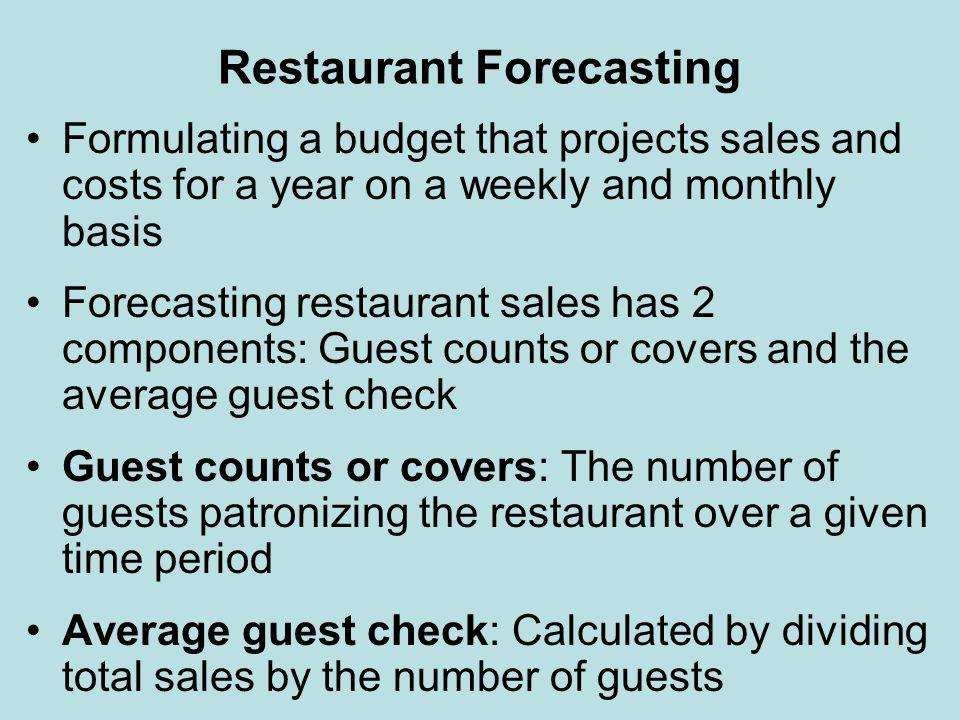 Restaurant Forecasting
