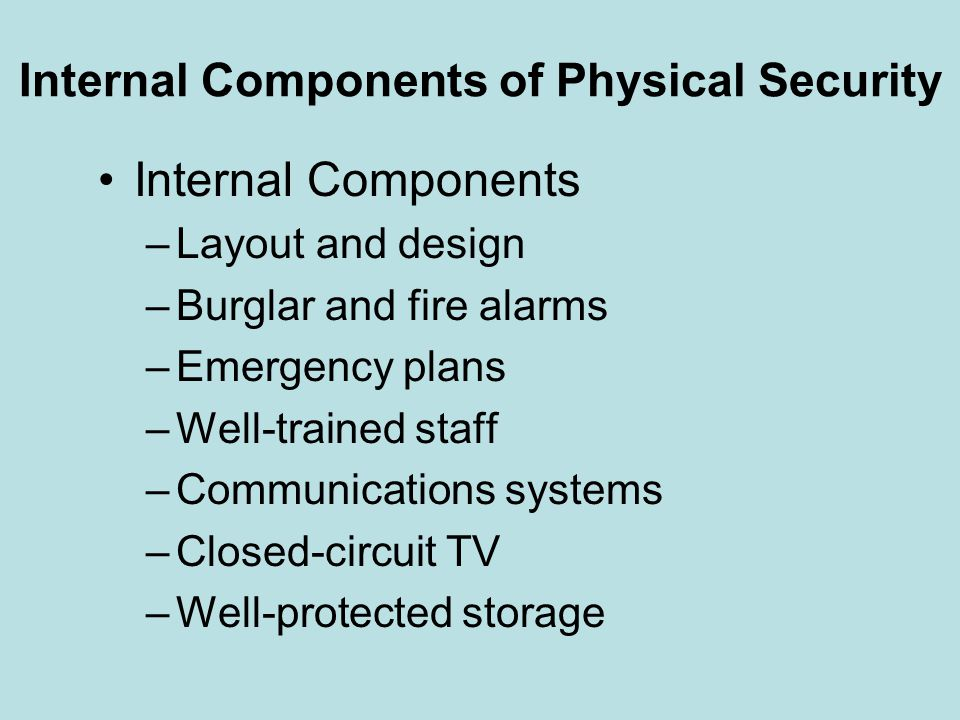 Internal Components of Physical Security