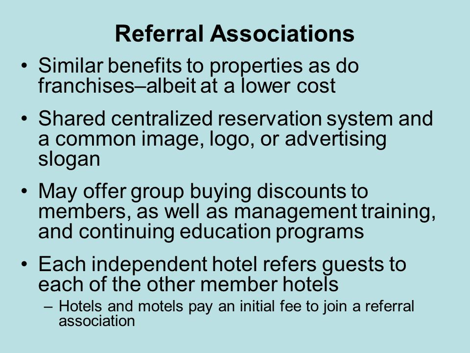 Referral Associations