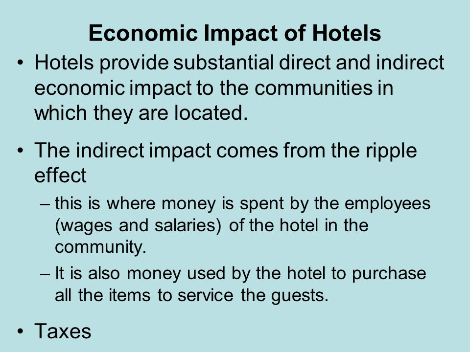Economic Impact of Hotels