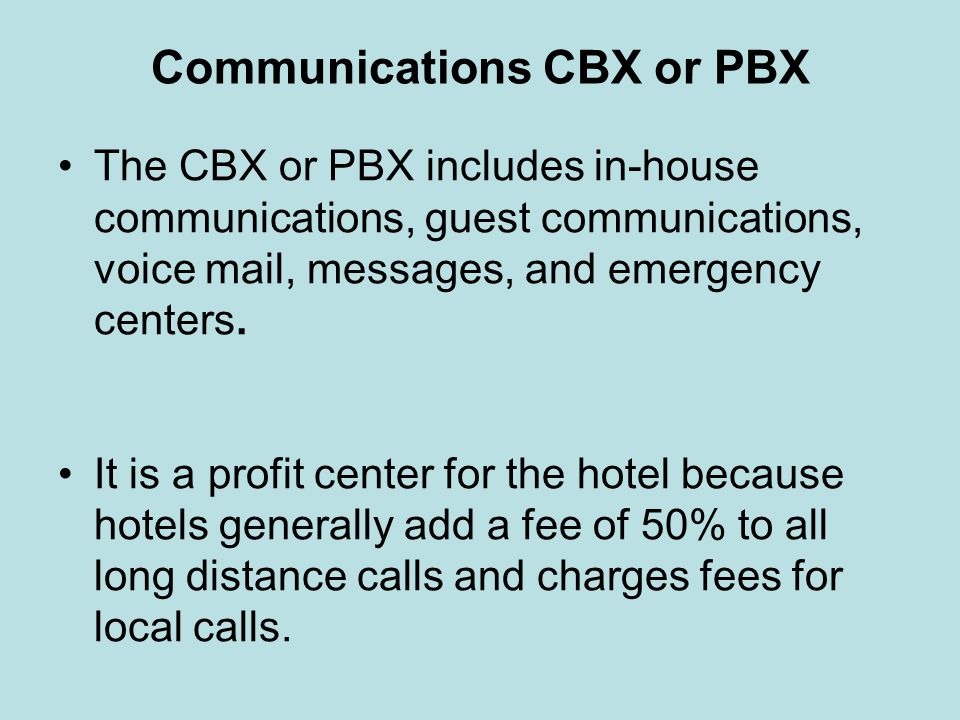 Communications CBX or PBX