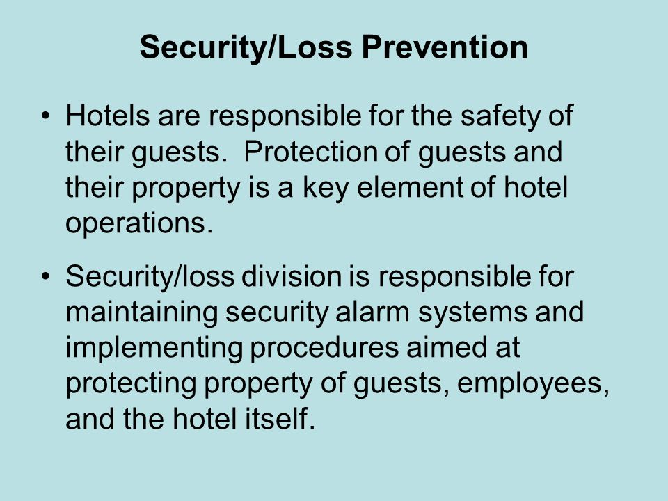 Security/Loss Prevention