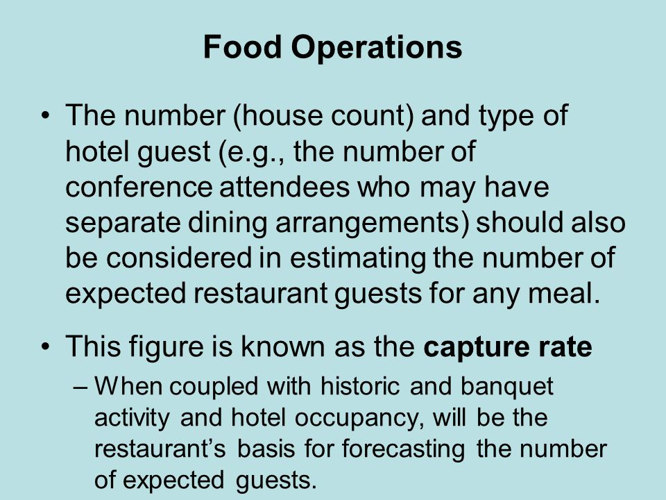 Food Operations