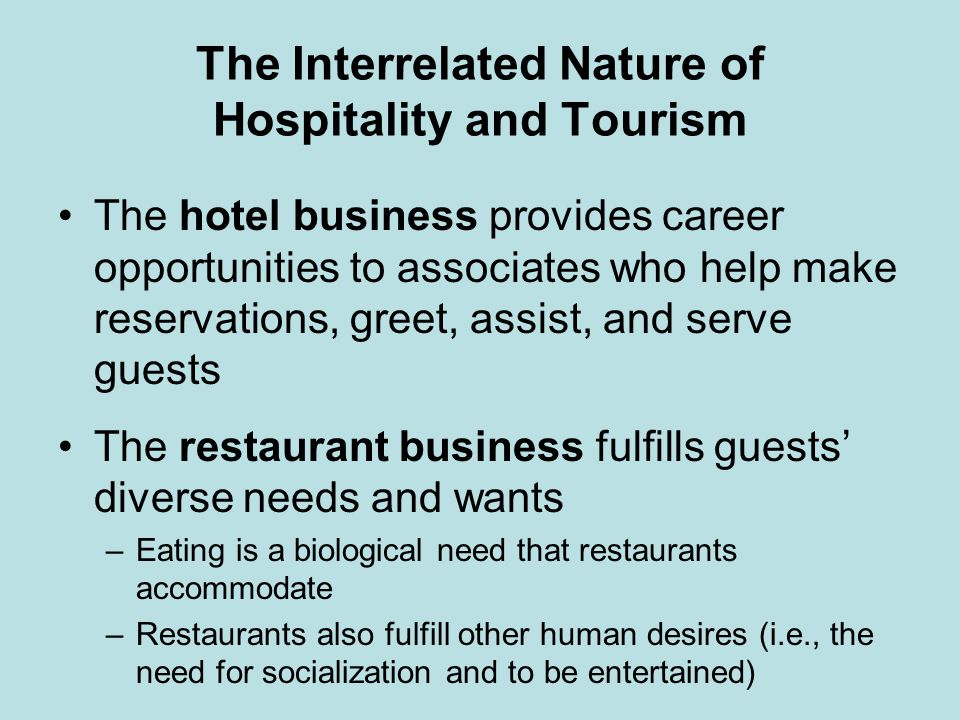 unique characteristics of hospitality According to the recent deloitte travel and hospitality industry outlook the shape  of the industry is constantly changing with millennials.