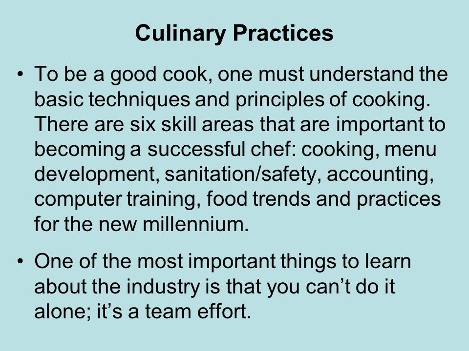 Culinary Practices