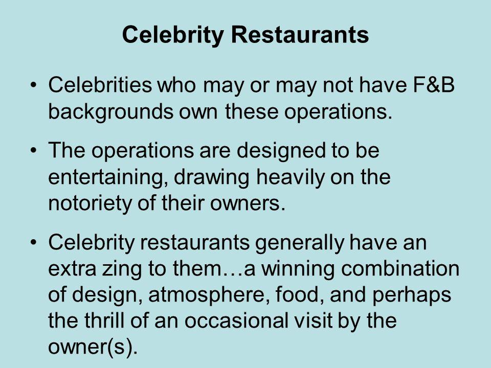 Celebrity Restaurants