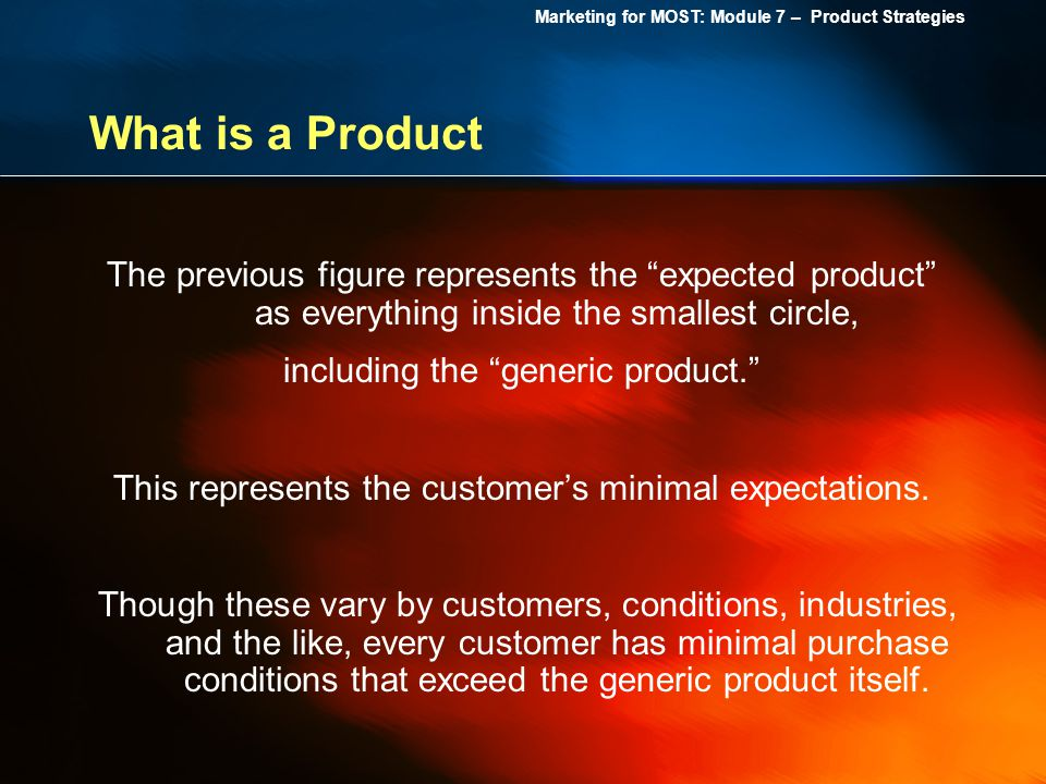 What is a Product The previous figure represents the expected product as everything inside the smallest circle,