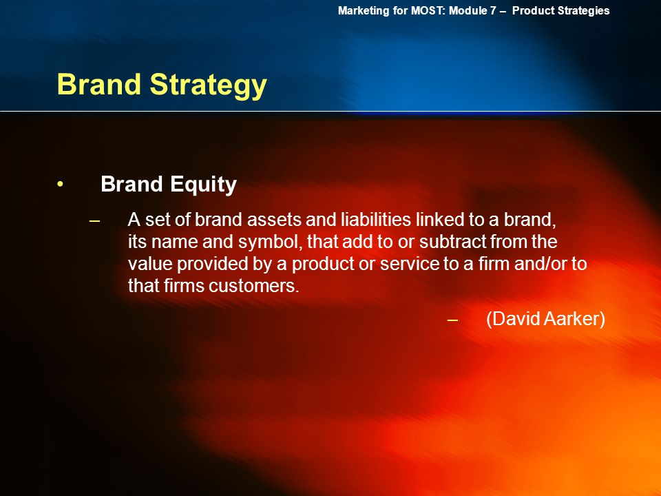 Brand Strategy Brand Equity