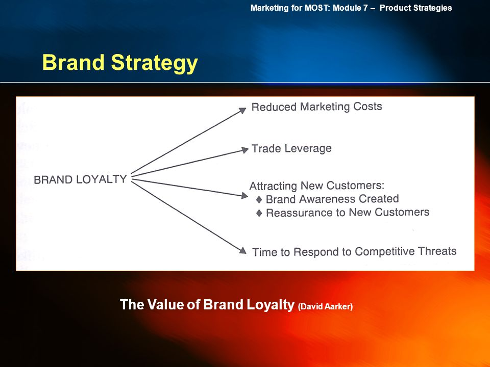 Brand Strategy The Value of Brand Loyalty (David Aarker)