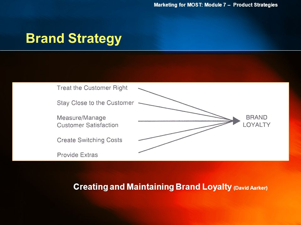 Brand Strategy Creating and Maintaining Brand Loyalty (David Aarker)