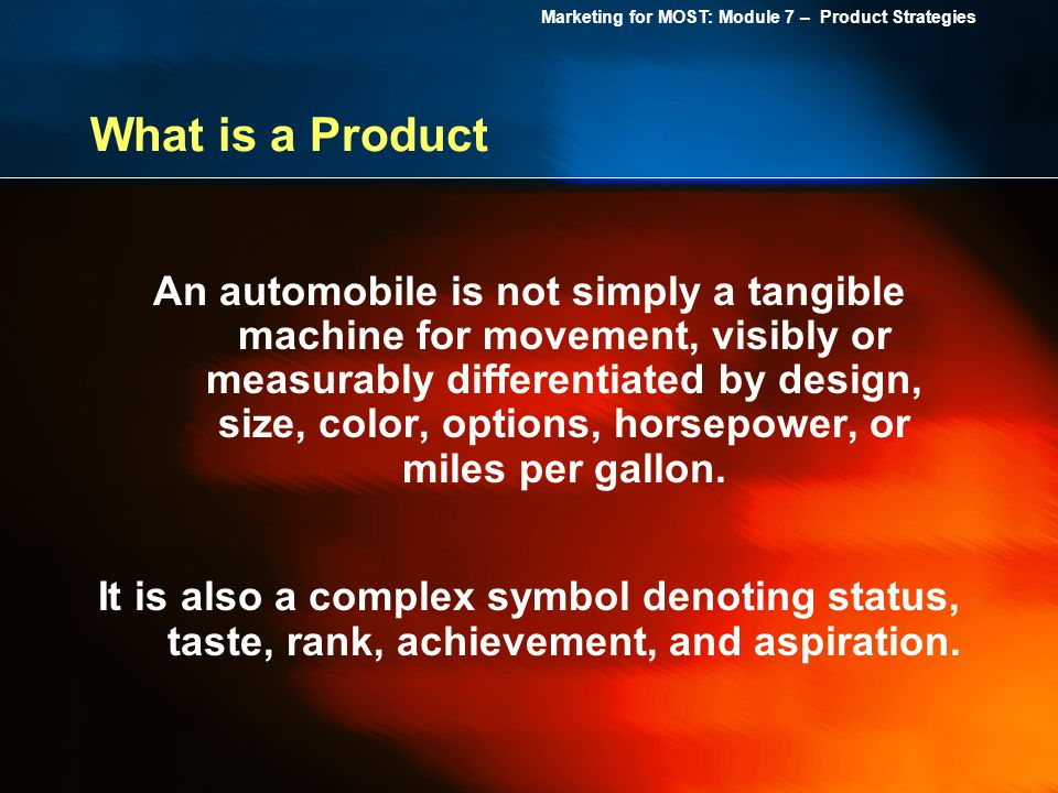 What is a Product